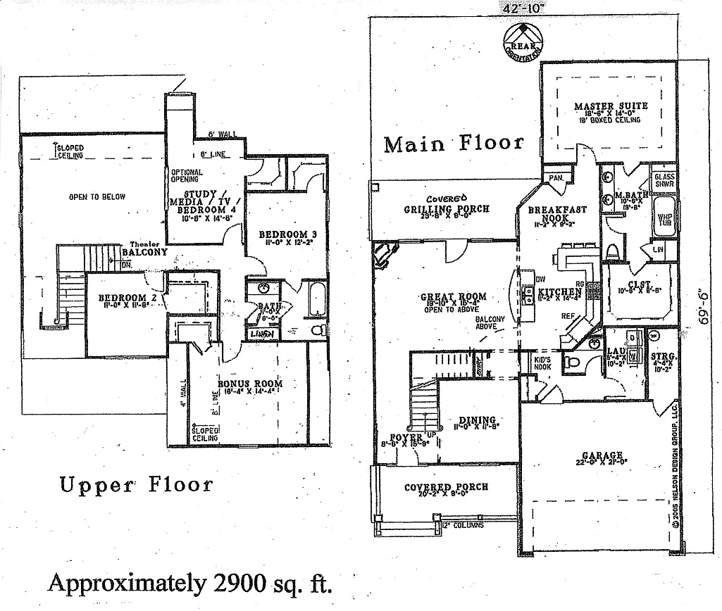 House Plans With Media Room: EMBRY CUSTOM HOMES, LLC